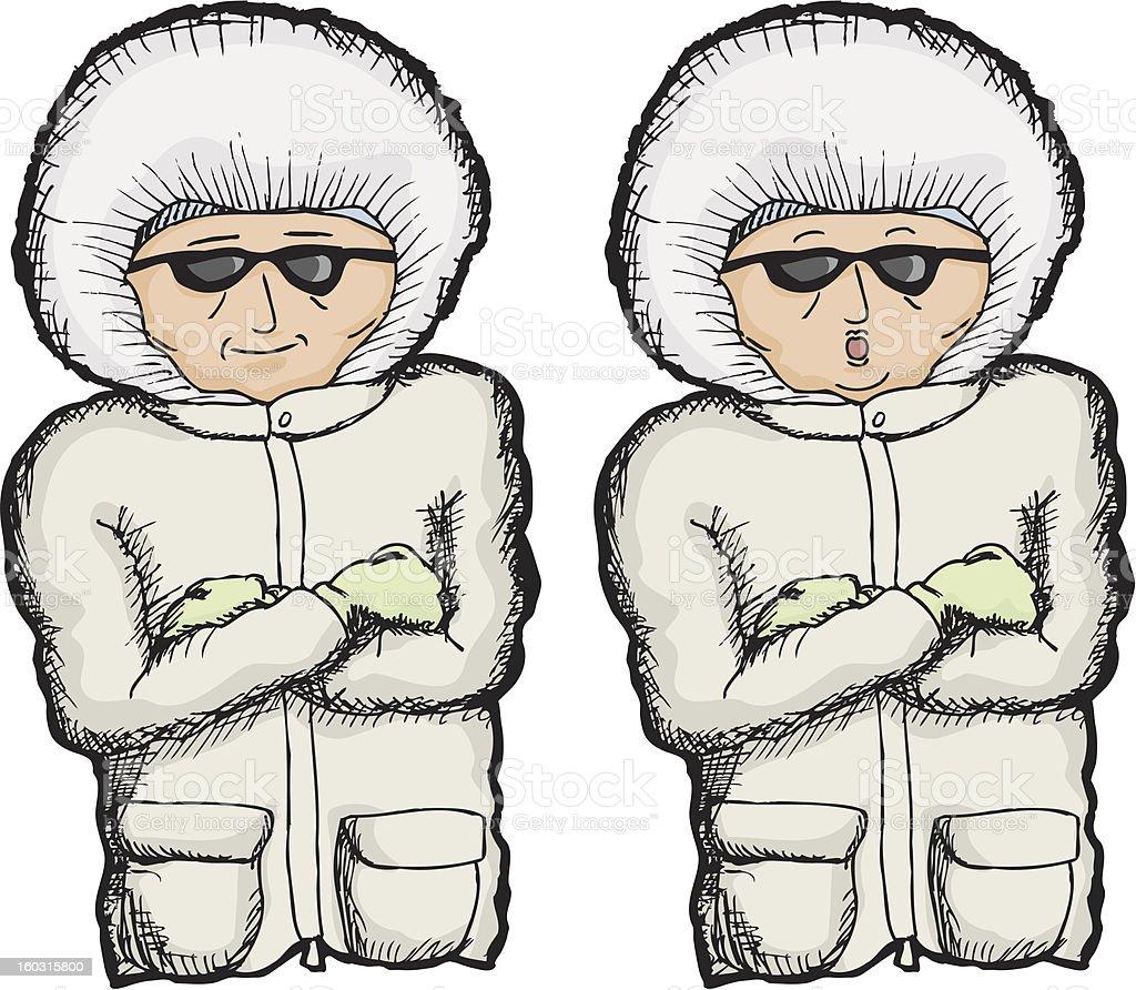 Person in Winter Coat royalty-free stock vector art
