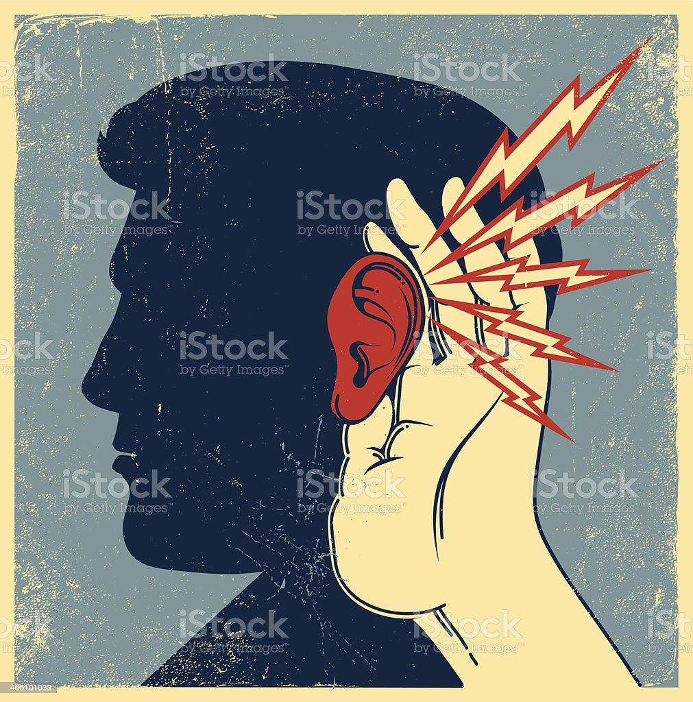 Person Listening vector art illustration