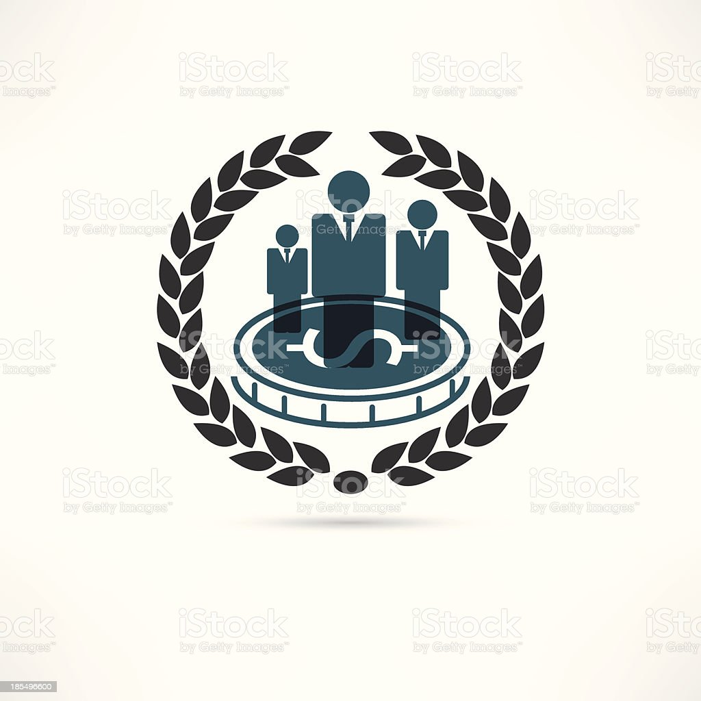 Person of business icon royalty-free stock vector art