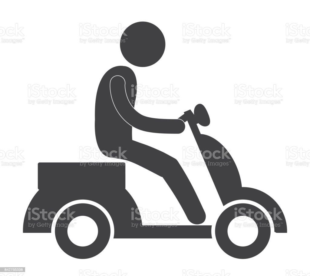 person pictogram riding pictogram icon image vector art illustration
