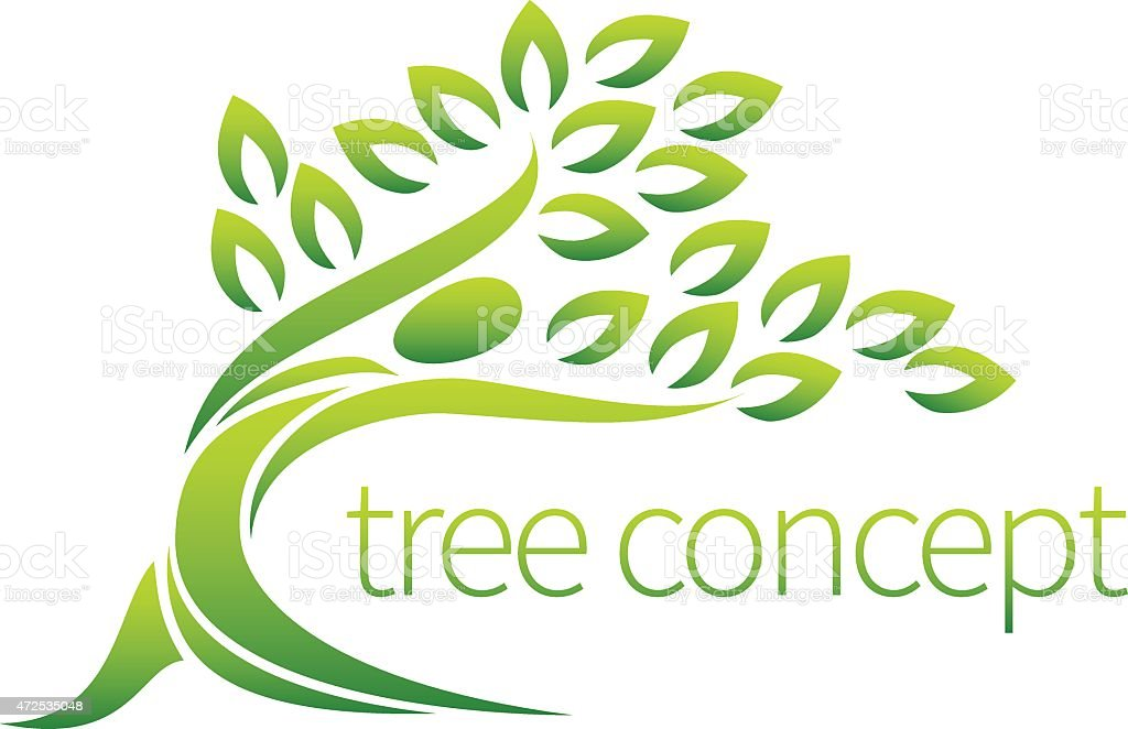 Person tree icon vector art illustration