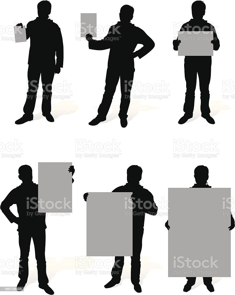 person with a paper royalty-free stock vector art