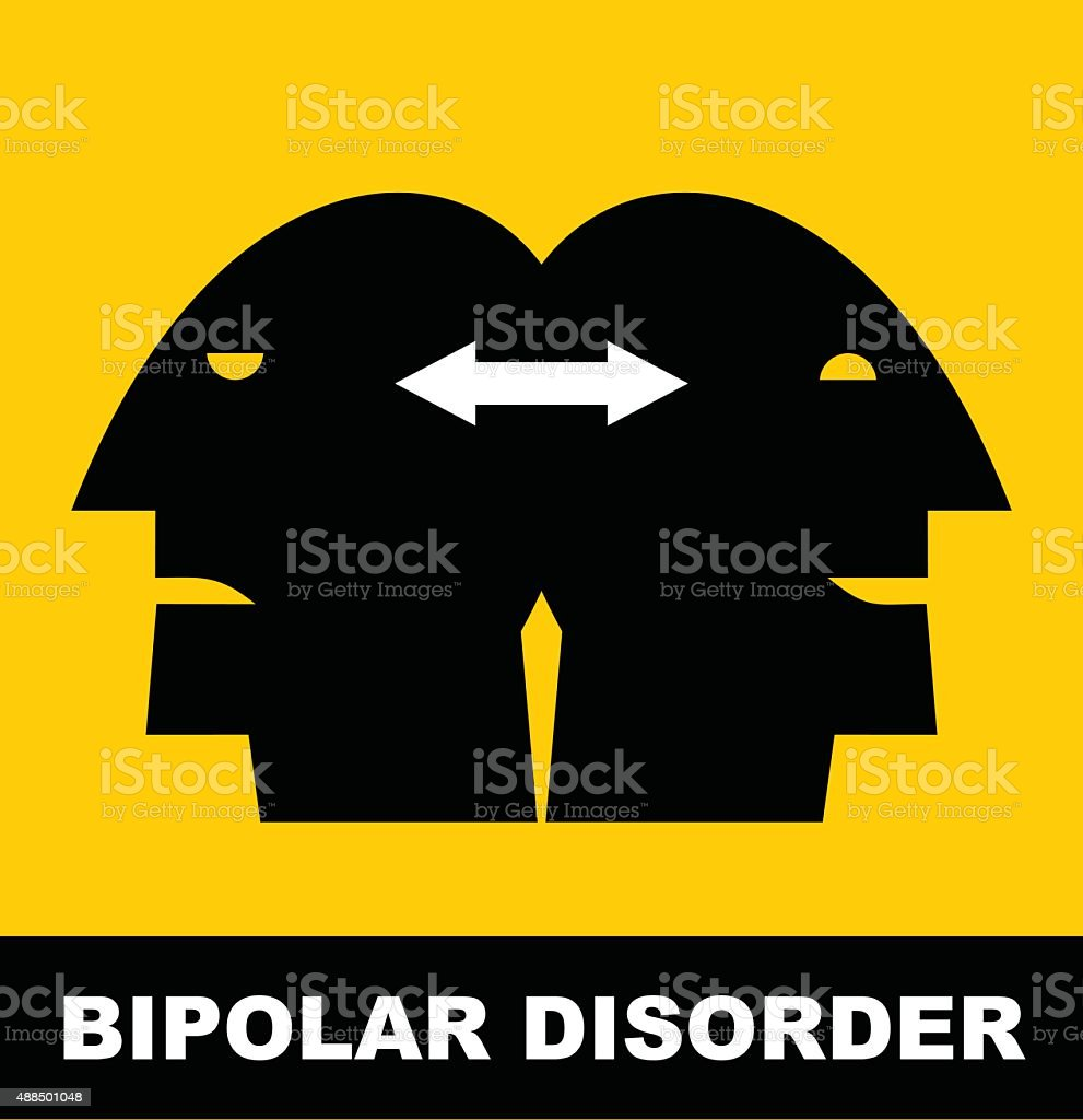 Person with Bipolar Disorder. vector art illustration