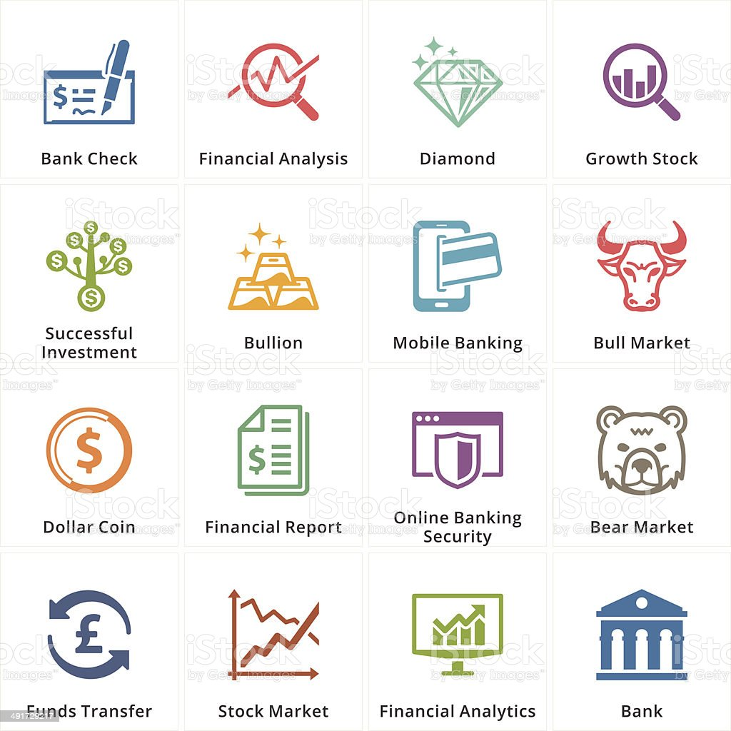 Personal & Business Finance Icons - Set 1 vector art illustration