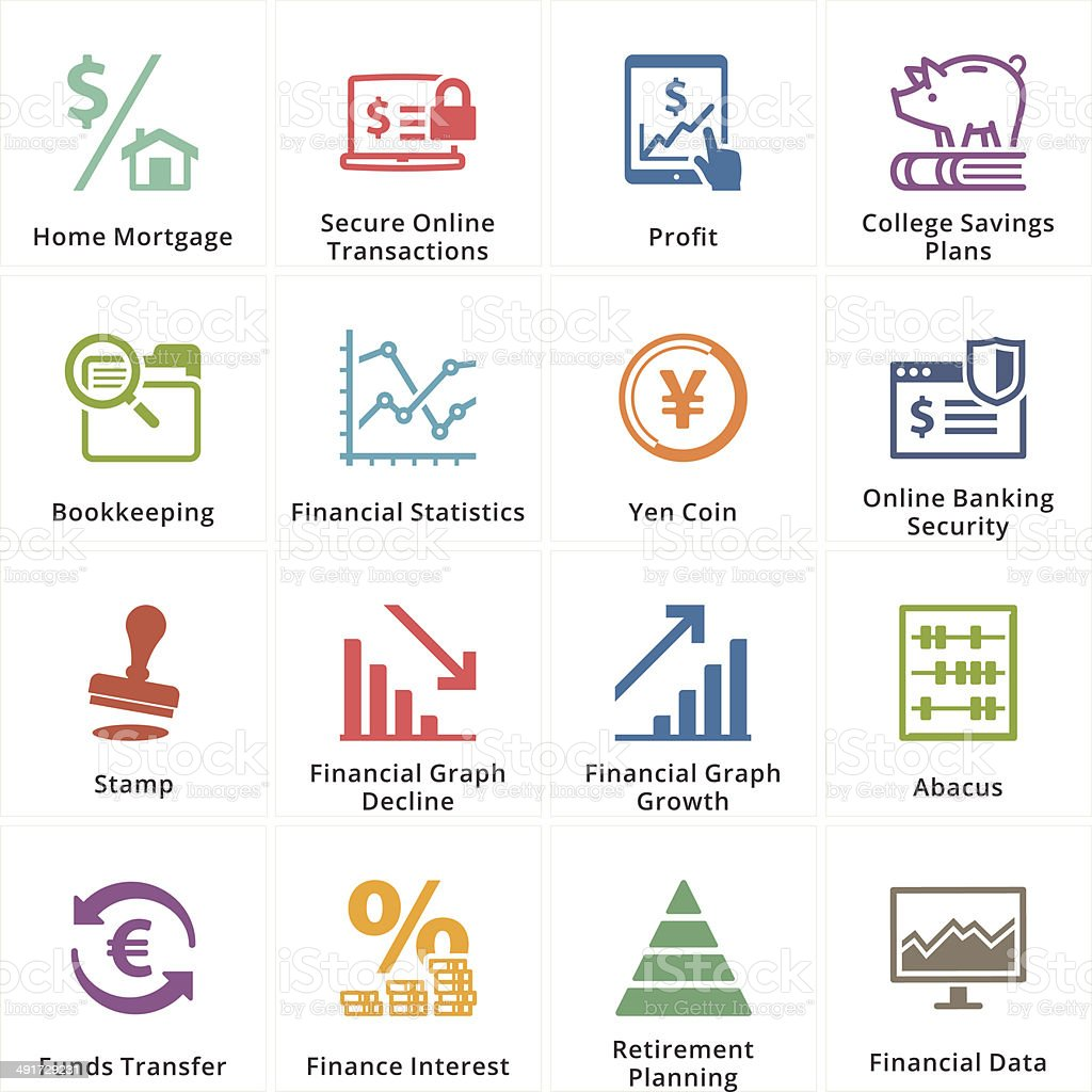 Personal & Business Finance Icons - Set 3 vector art illustration