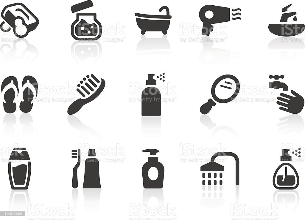 Personal Care icons royalty-free stock vector art