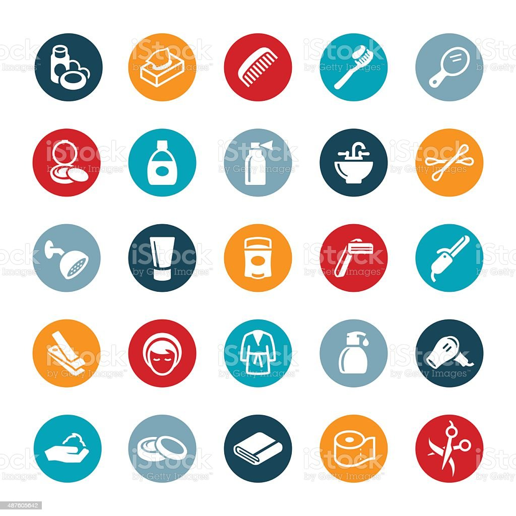 Personal Care Icons vector art illustration