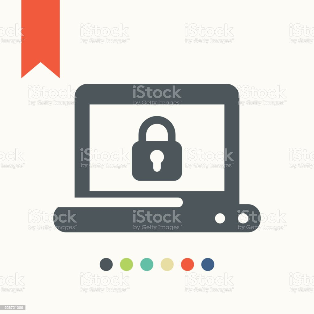 Personal data protection icon vector art illustration
