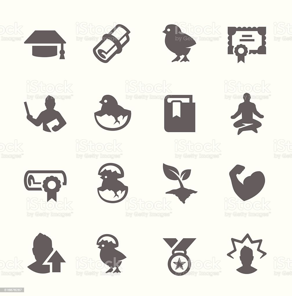 Personal Development Icons vector art illustration