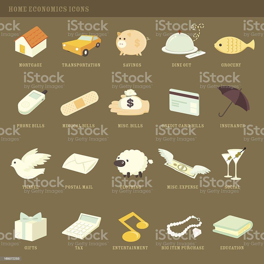 personal finance icons vector art illustration