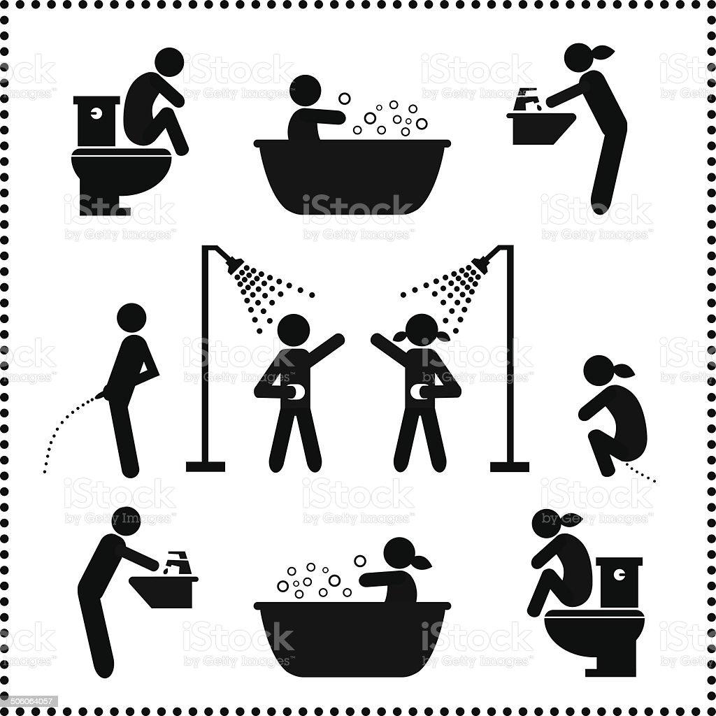 personal hygiene symbol vector art illustration