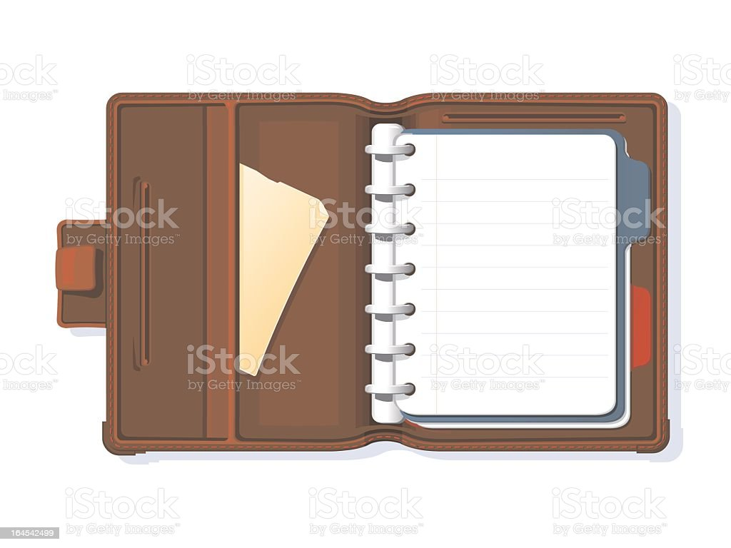 Personal Organiser vector art illustration