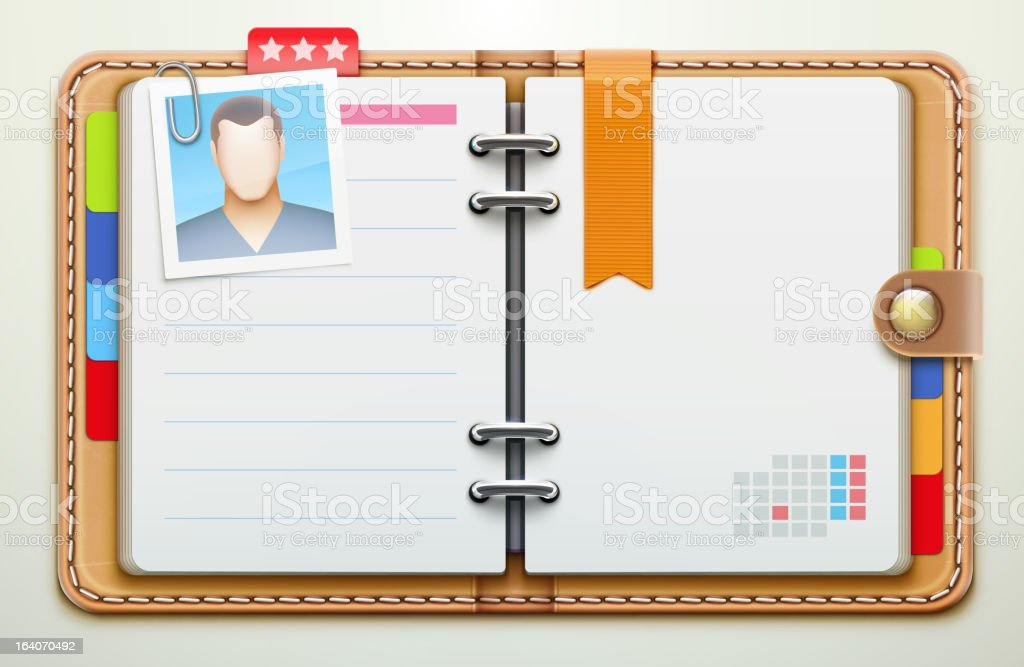 personal organizer royalty-free stock vector art