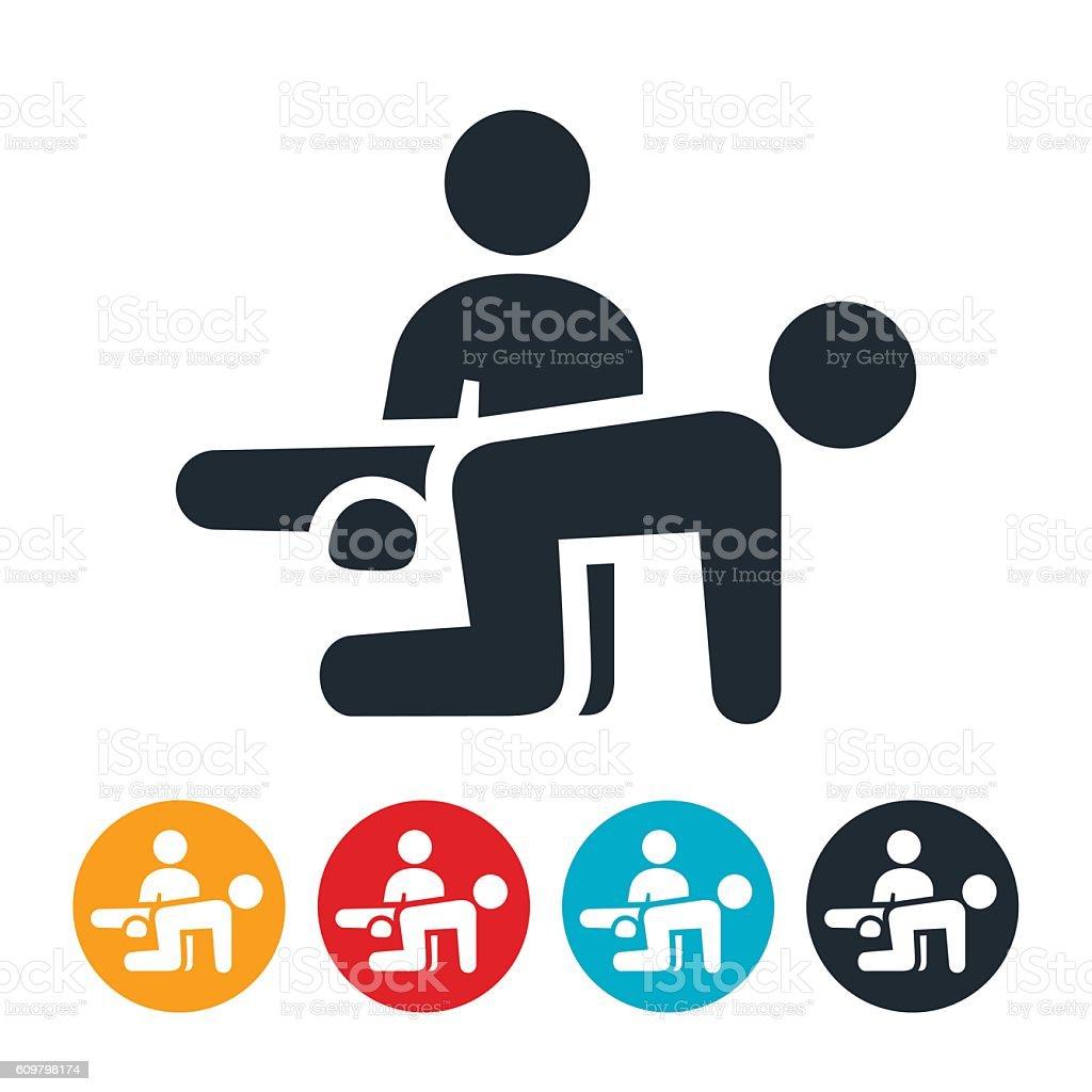 Personal Trainer Icon vector art illustration