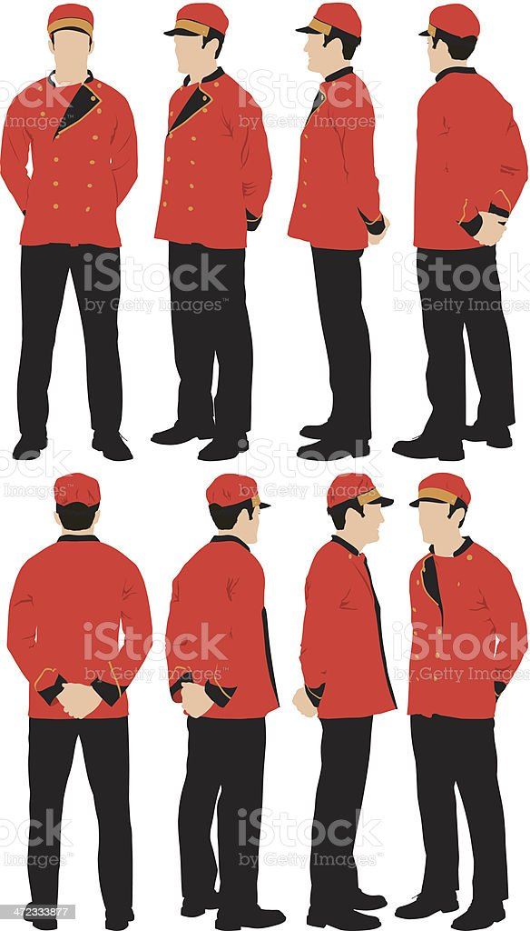 Personal valet vector art illustration