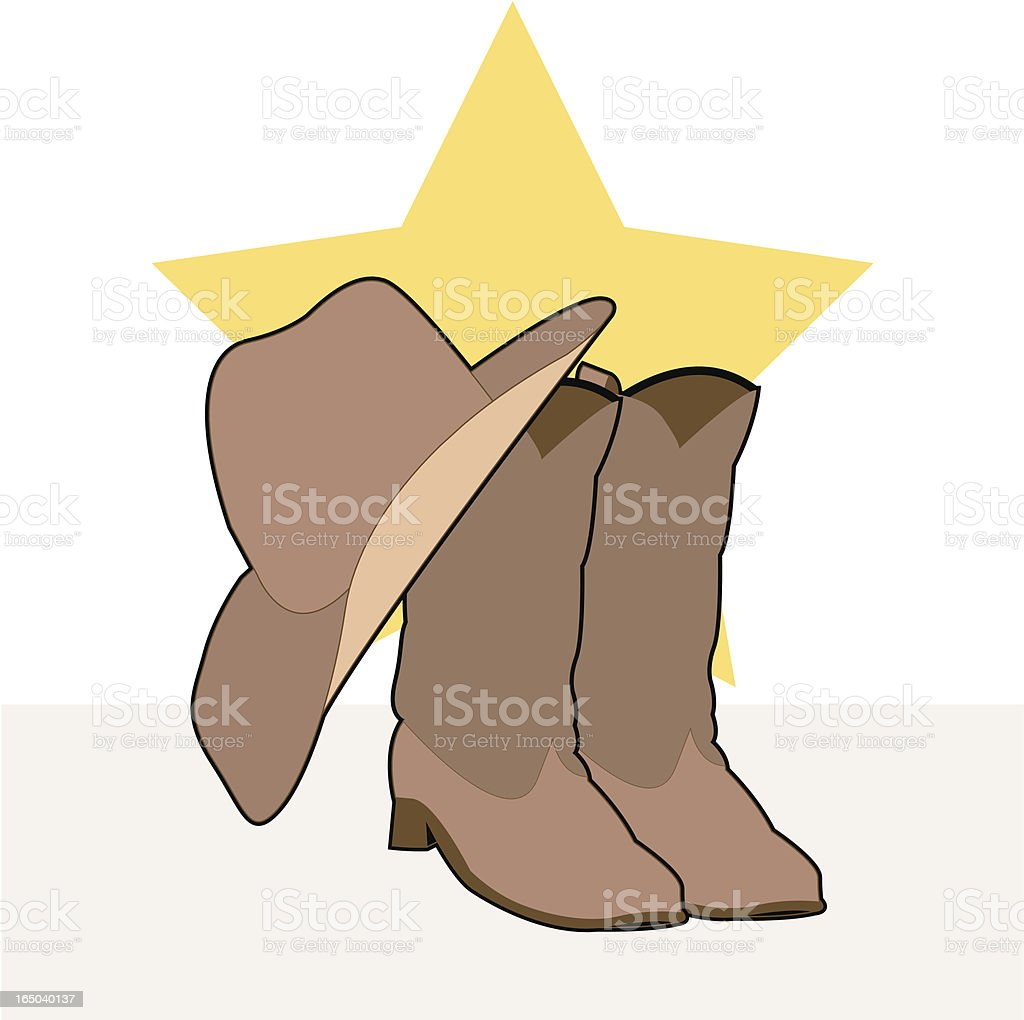 personalities: cowboy (vector) royalty-free stock vector art