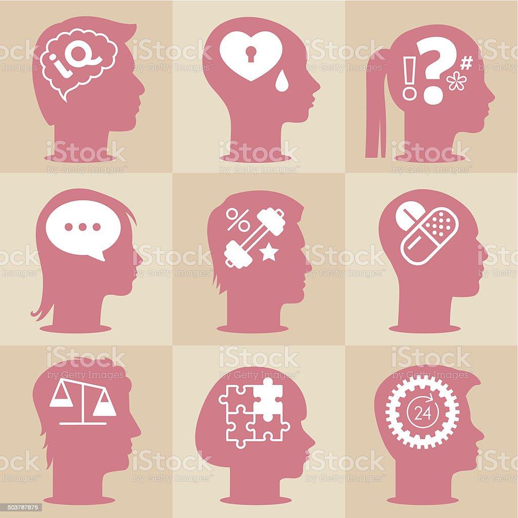 Personality vector art illustration