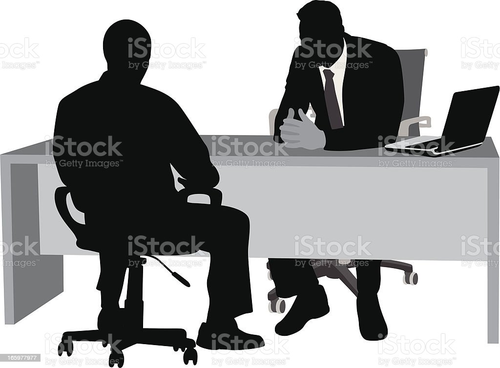 Personnel Issues Vector Silhouette vector art illustration