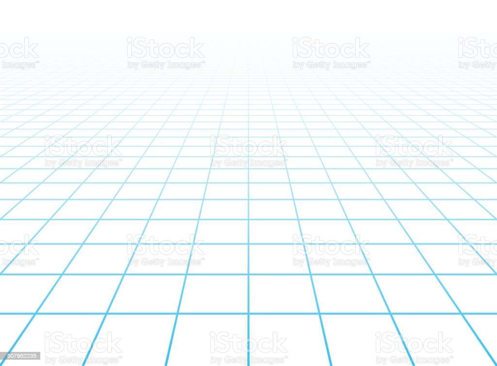 Perspective grid background vector art illustration