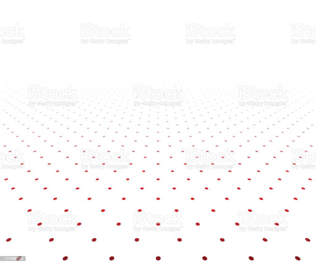 Perspective textured surface. vector art illustration