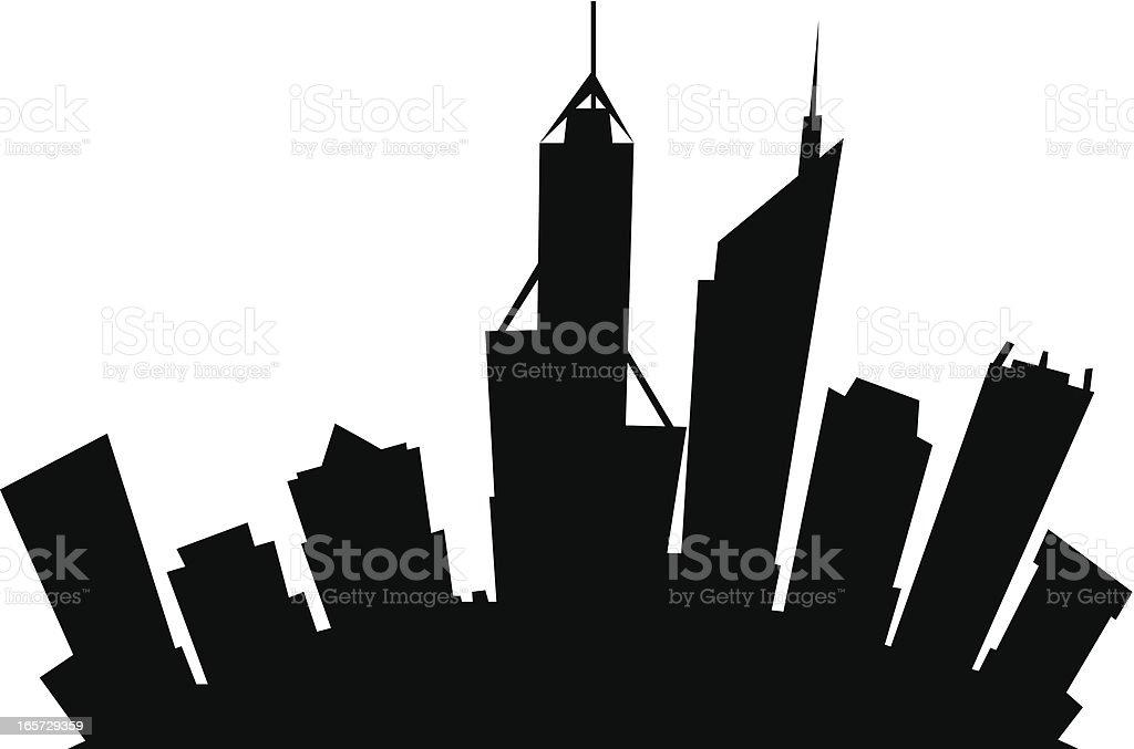 Perth, Australia Cartoon City vector art illustration