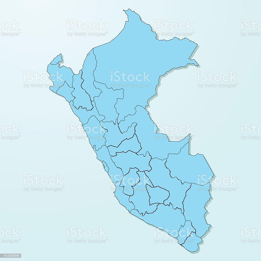 Peru blue map on degraded background vector vector art illustration