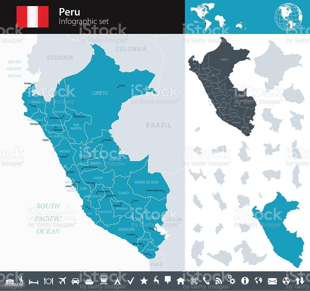 Peru - Infographic map - illustration vector art illustration