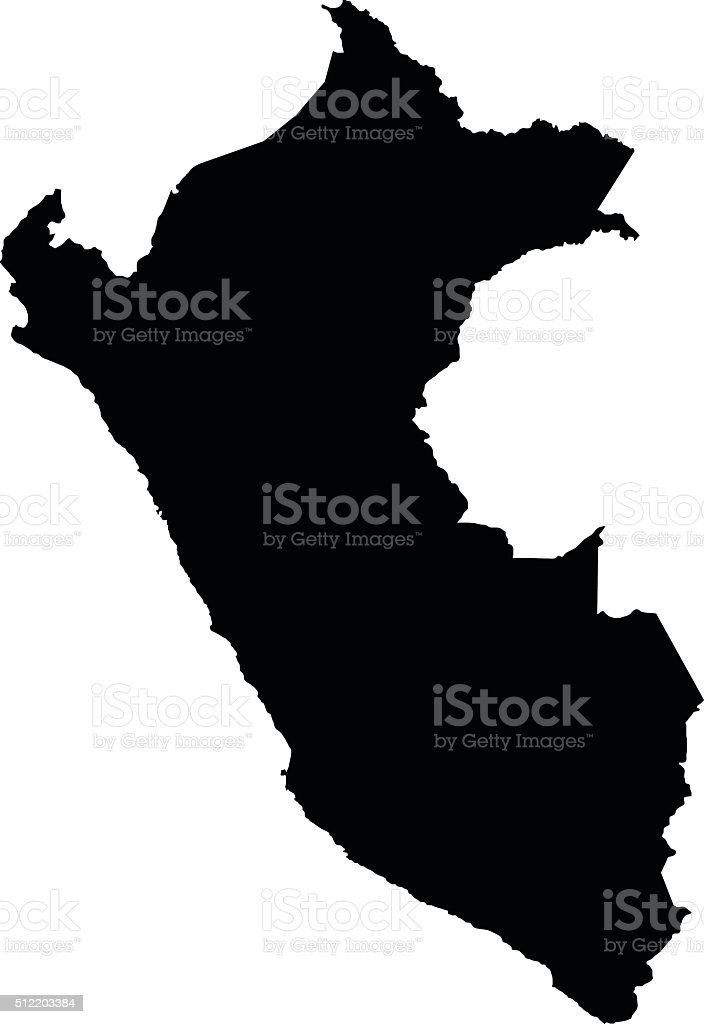 Peru map on white background vector vector art illustration