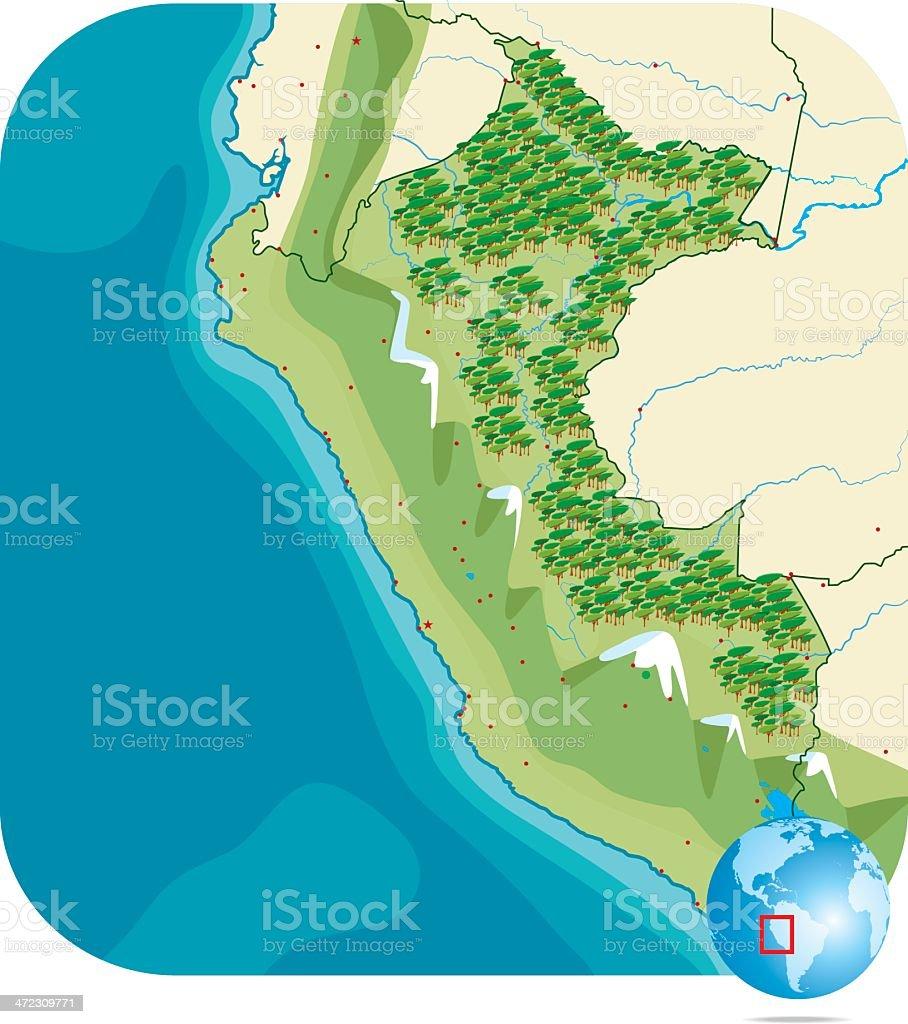Peru Map vector art illustration