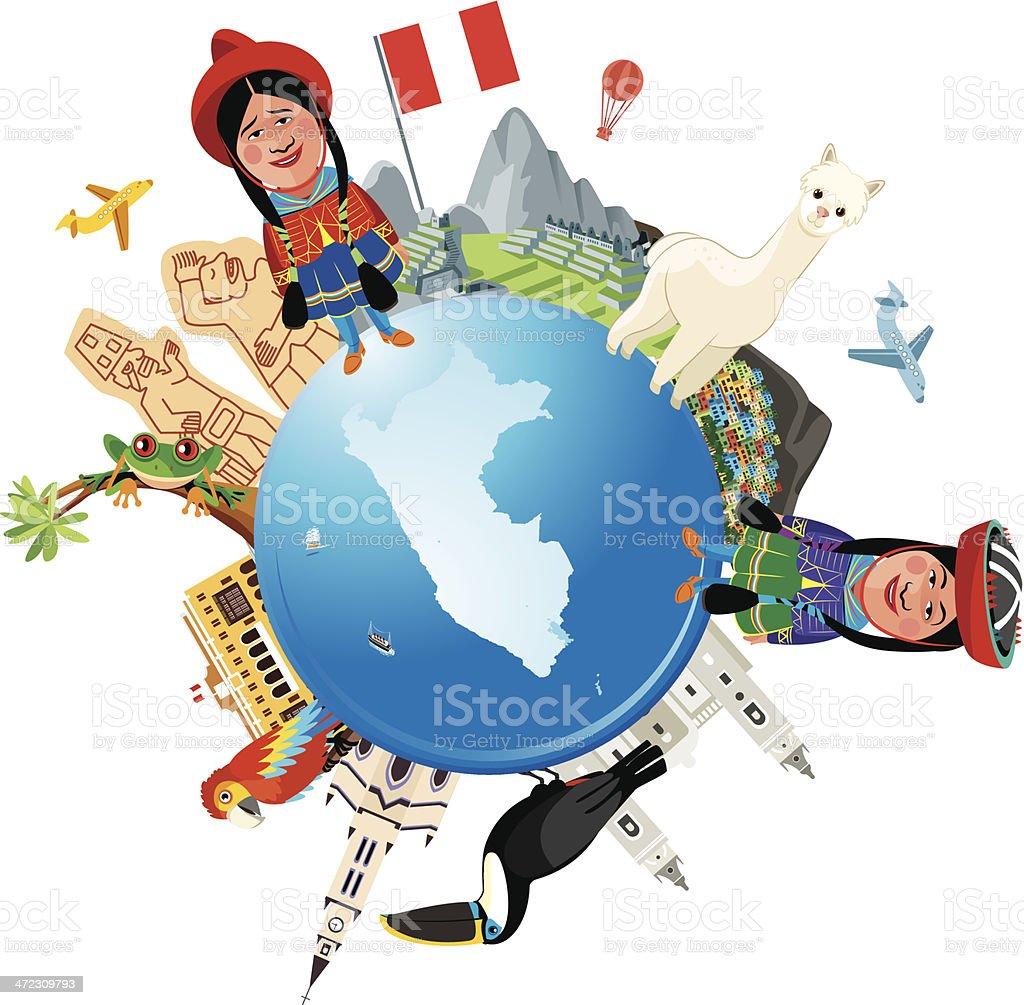 Peru Travel vector art illustration