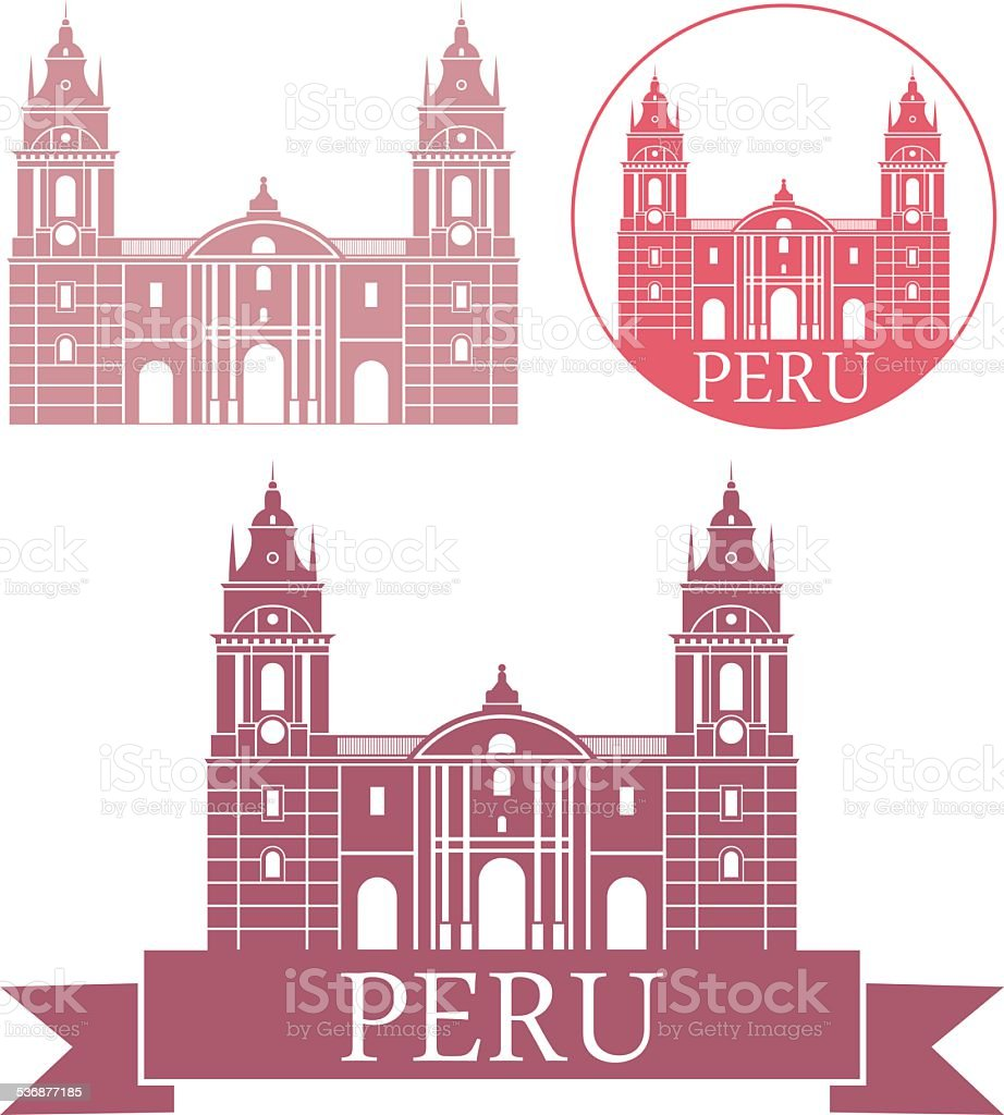 Peru vector art illustration