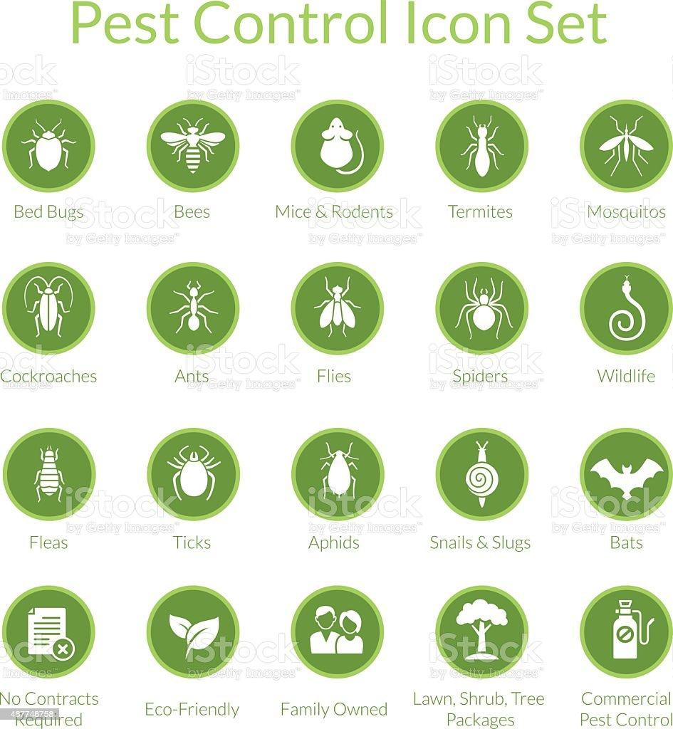 Pest Control Icon set vector art illustration