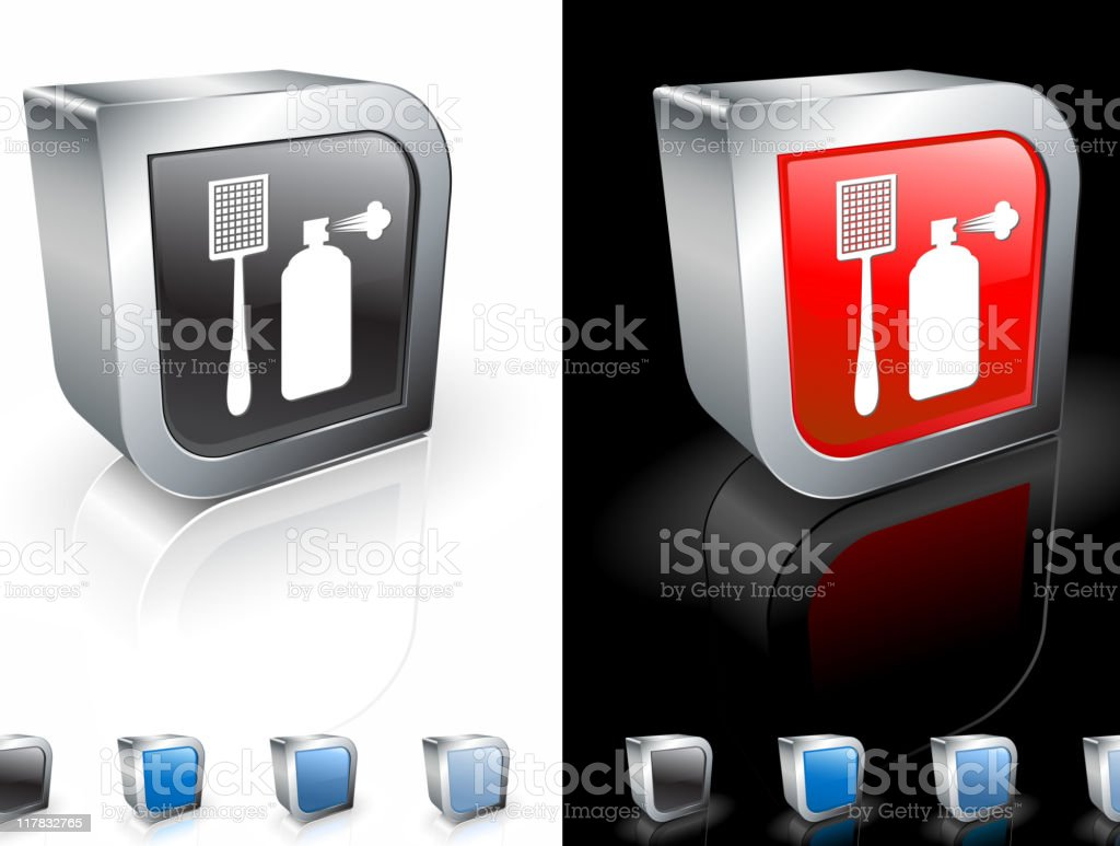 pest control supplies 3D icon vector art illustration