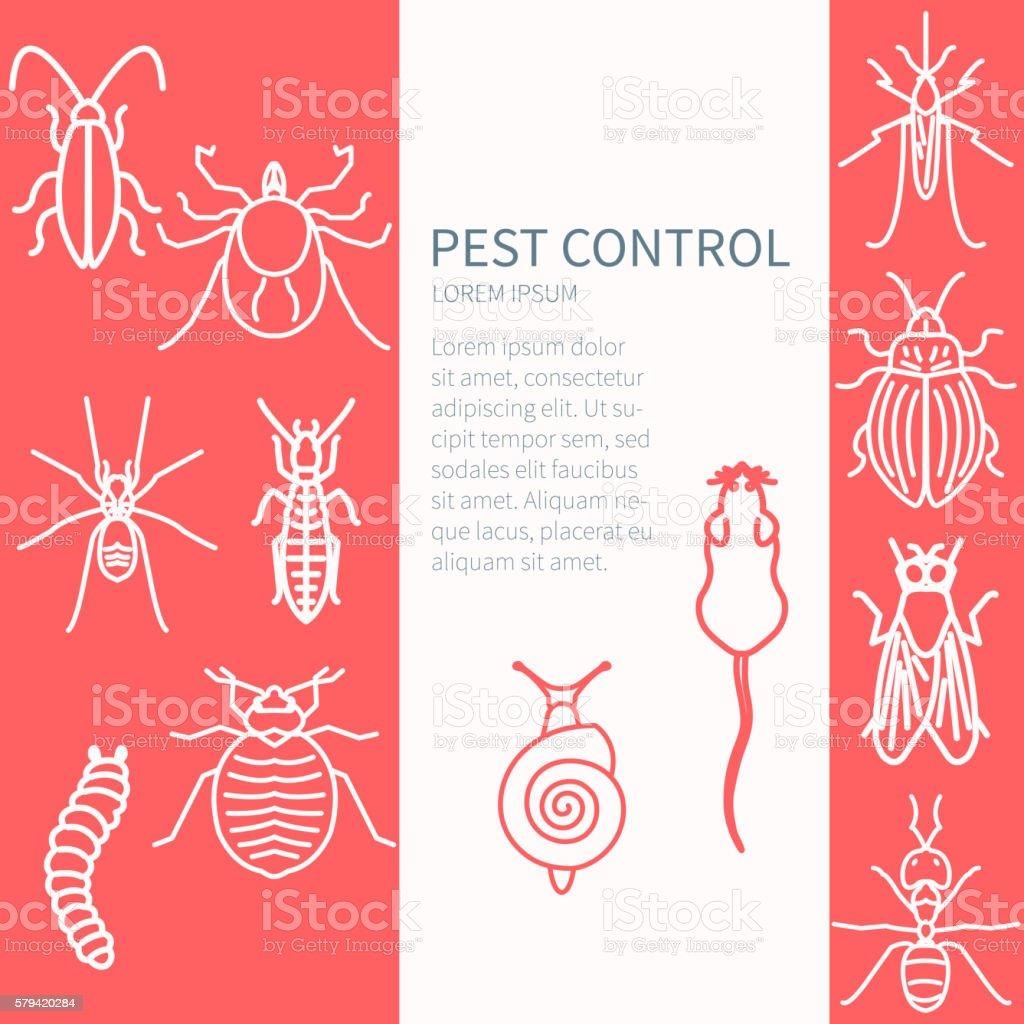 Pest control template vector art illustration