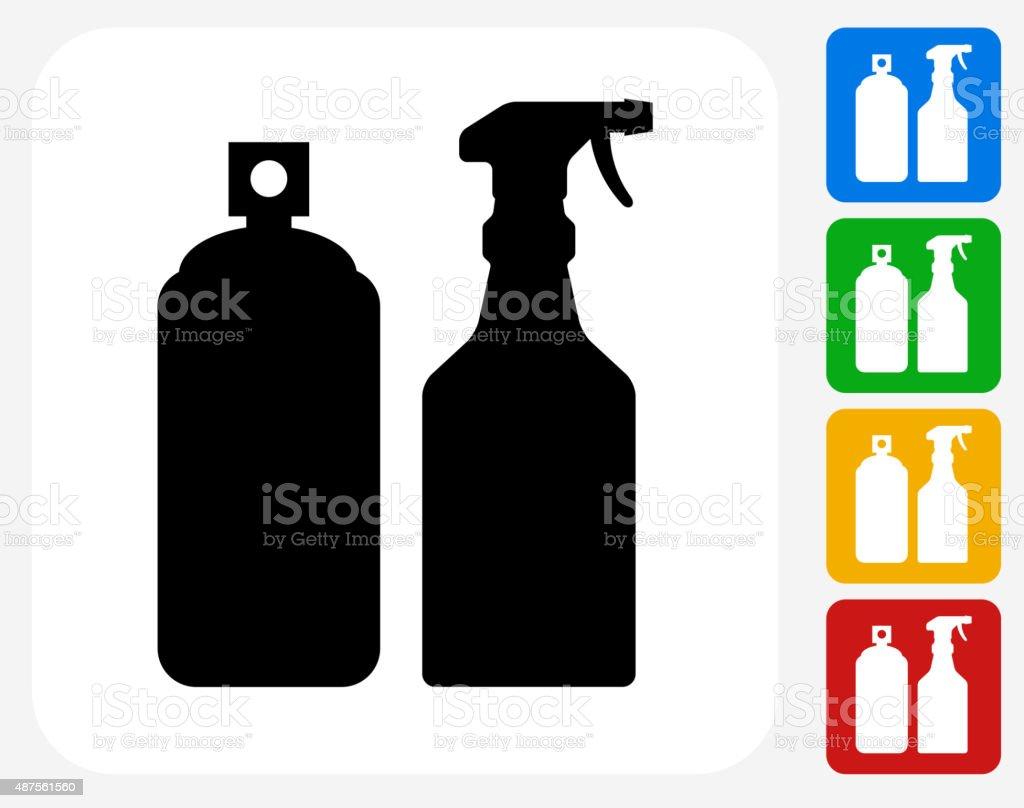 Pesticide Sprays Icon Flat Graphic Design vector art illustration
