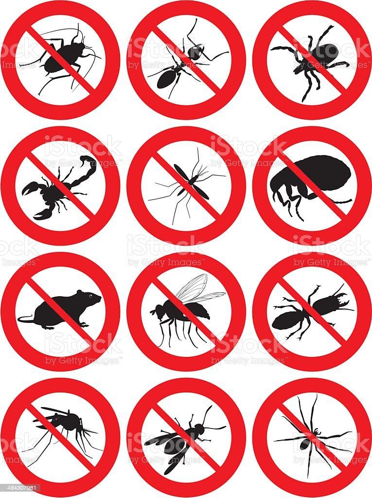 pests icon vector art illustration