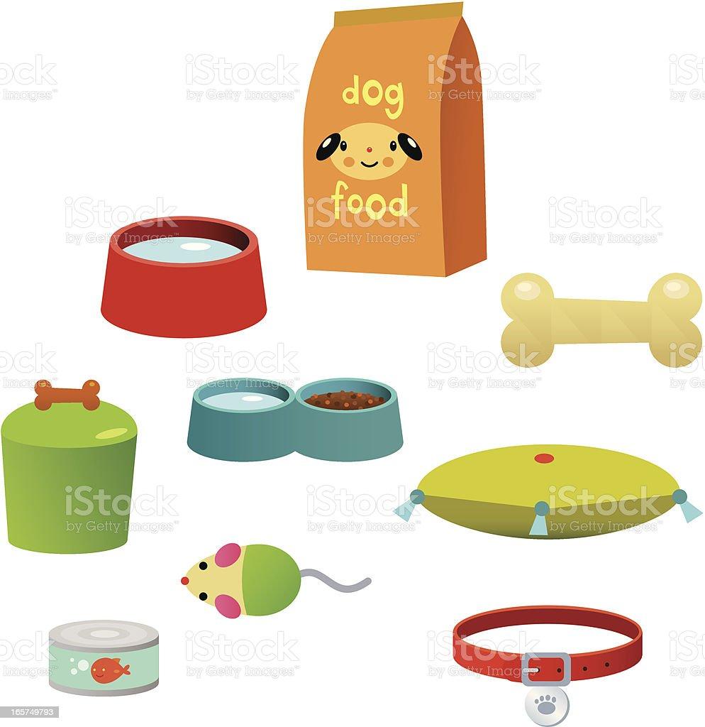 Pet Accessories vector art illustration