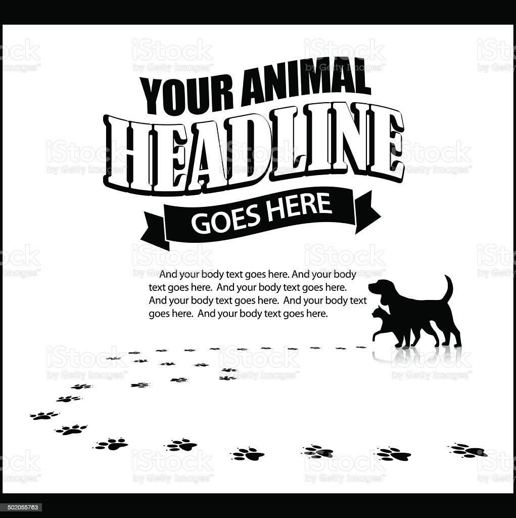 Pet advertising background template vector art illustration
