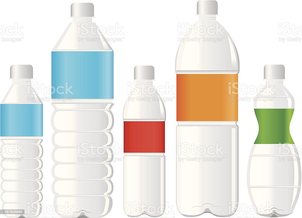 pet bottle of water vector art illustration