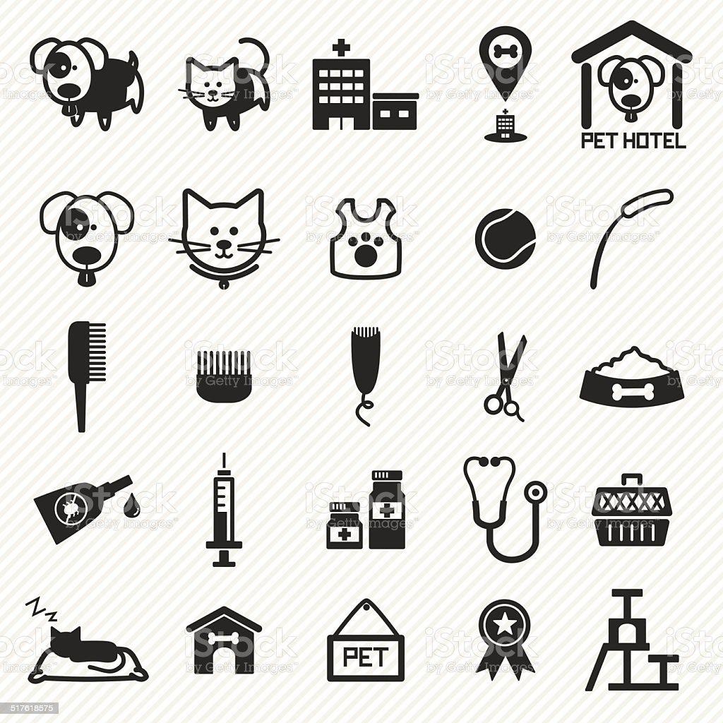 Pet Care icons set. illustration eps10 vector art illustration