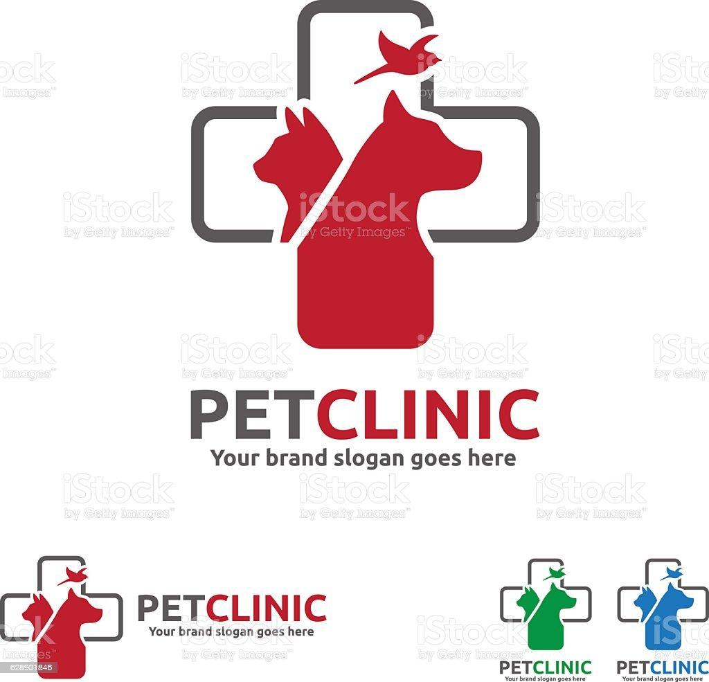 Pet Clinic Symbol vector art illustration