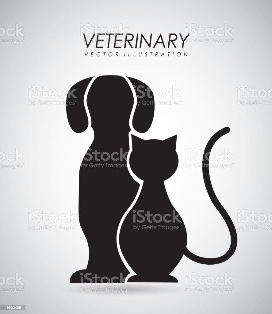 Pet design vector art illustration