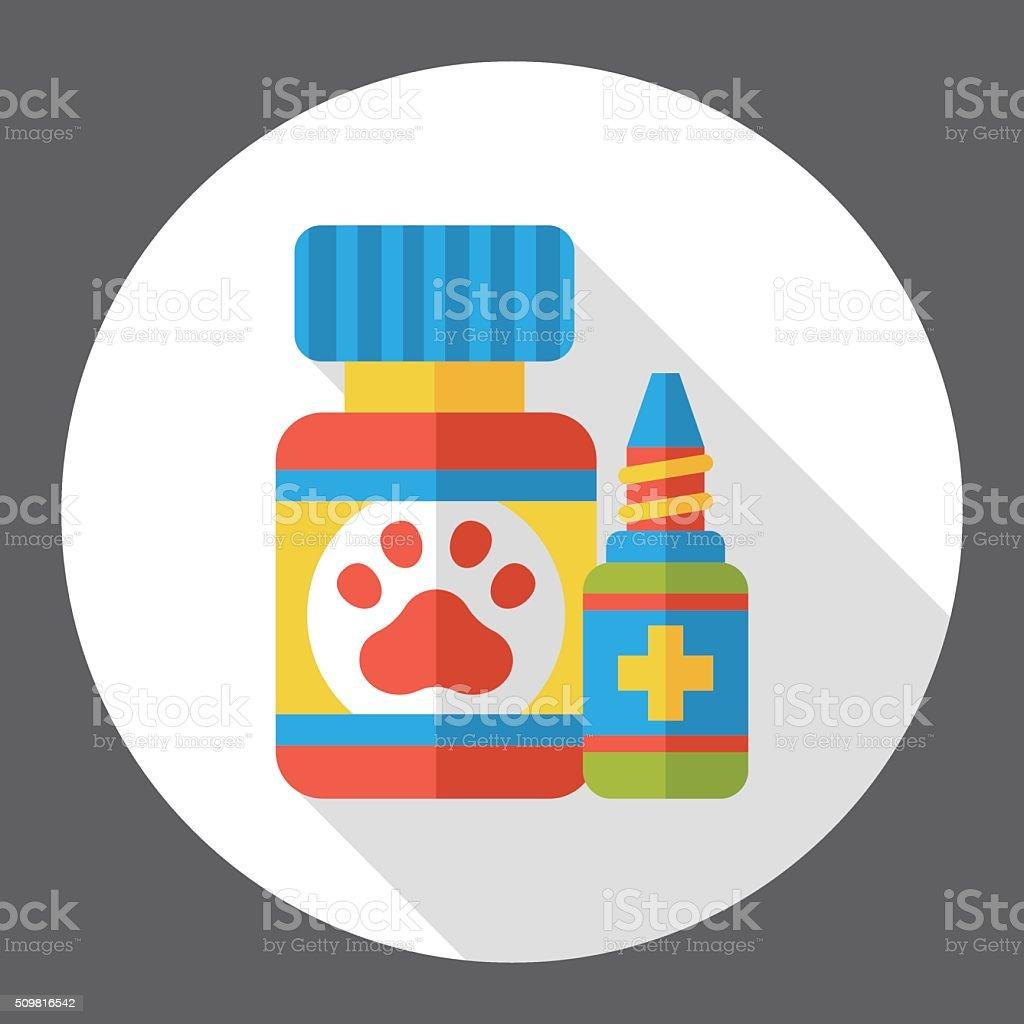 pet drug flat icon vector art illustration