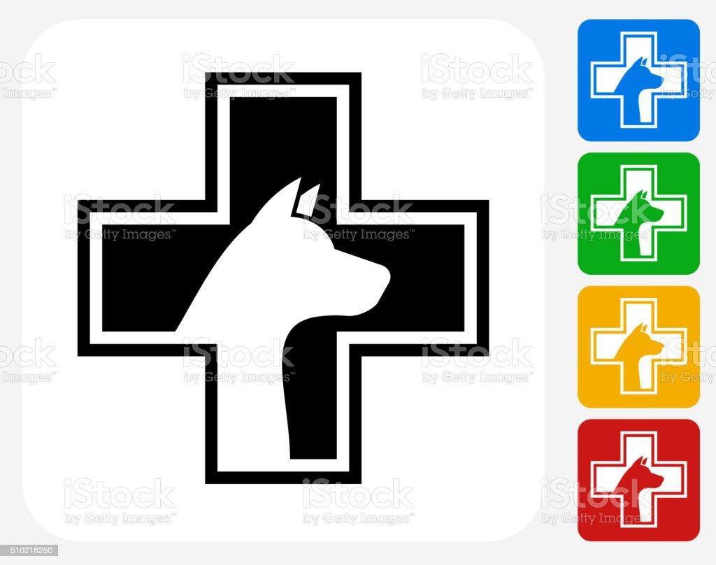 Pet Health Icon Flat Graphic Design vector art illustration