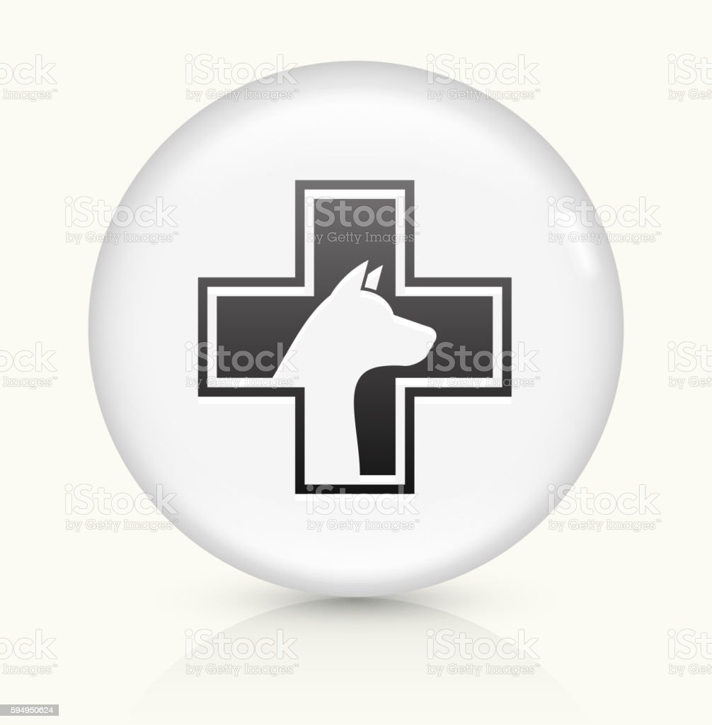 Pet Health icon on white round vector button vector art illustration
