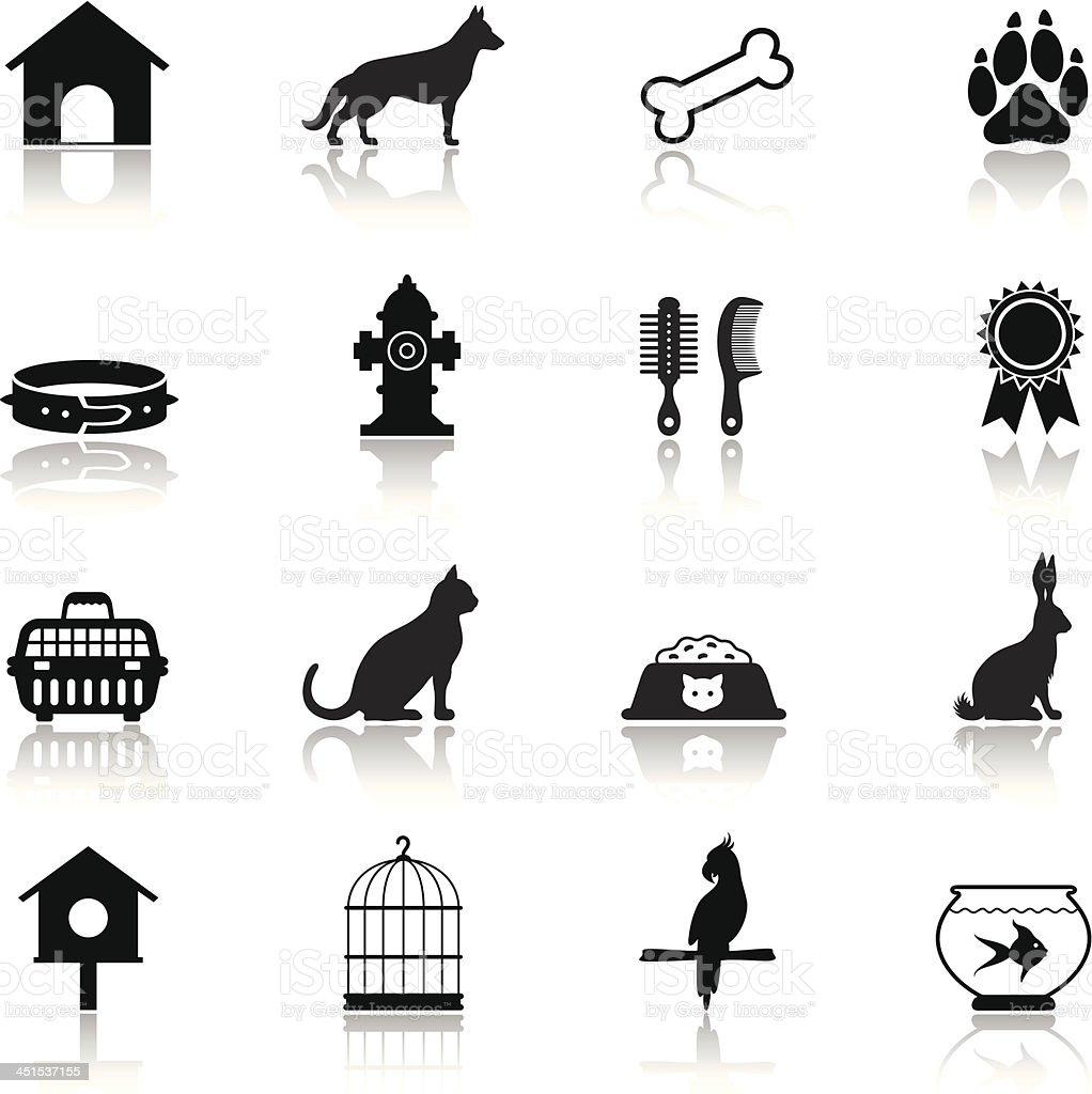 Pet Icon Set vector art illustration