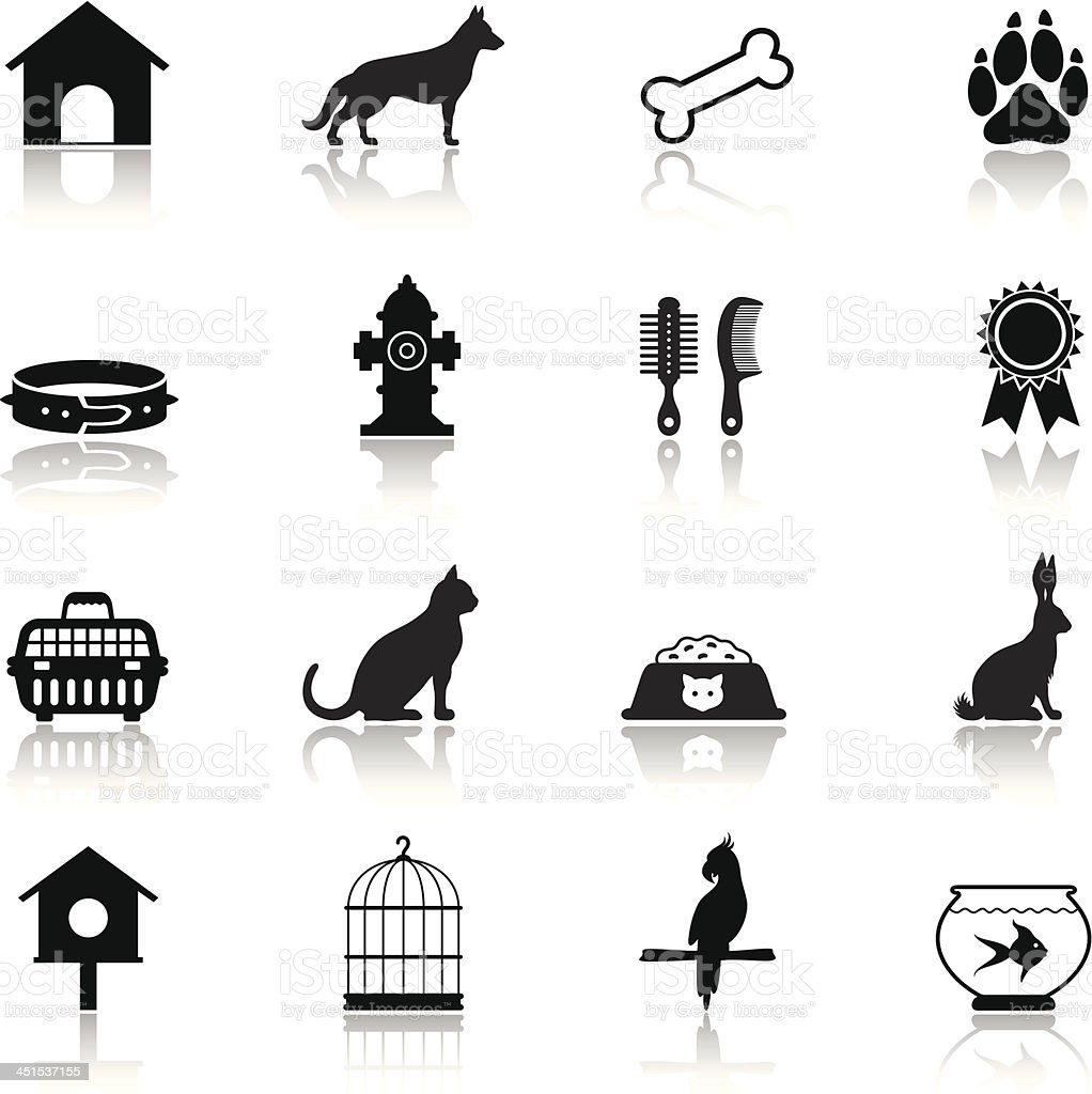 Pet Icon Set vector art illustration