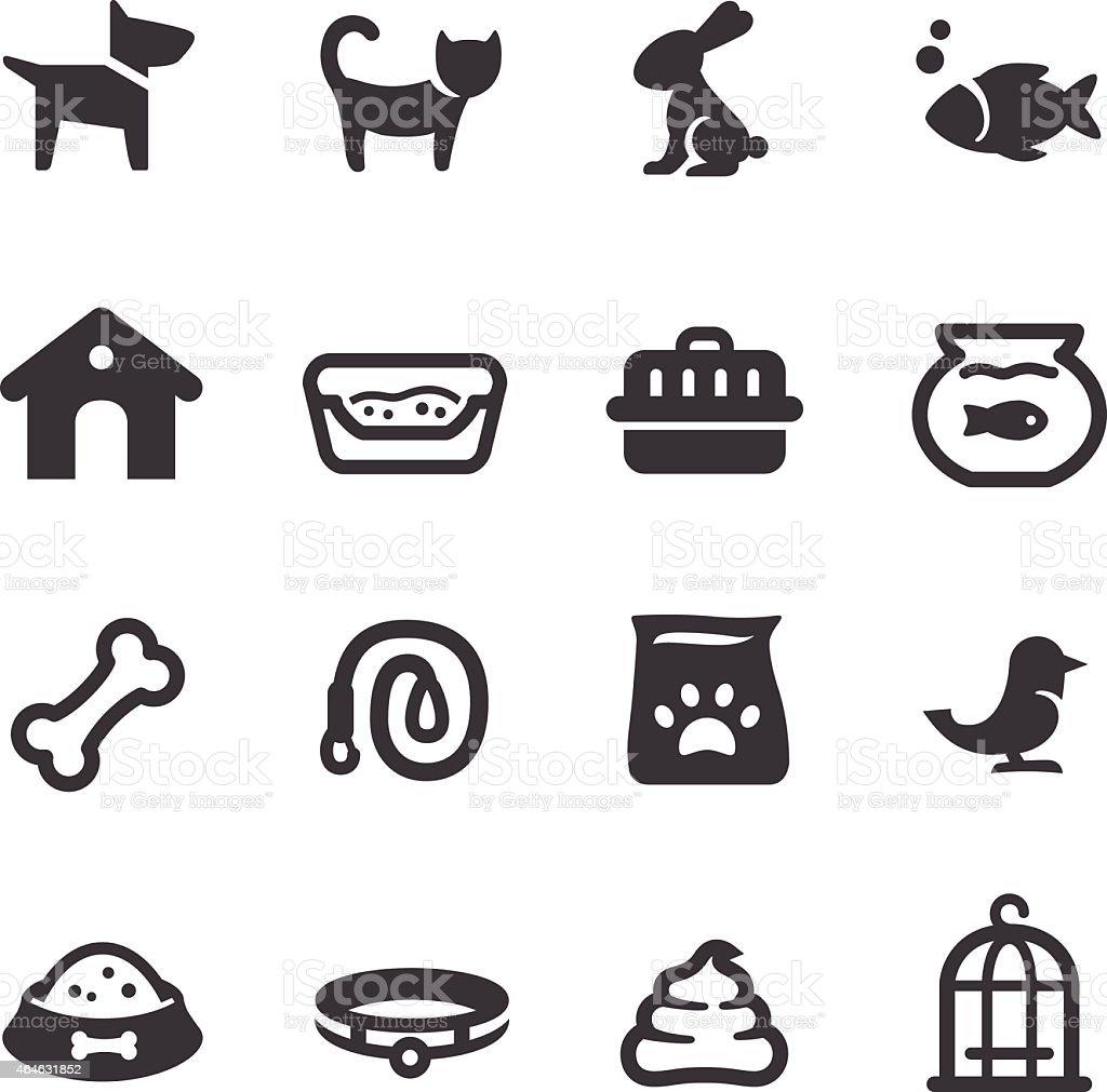 Pet Icons - Acme Series vector art illustration
