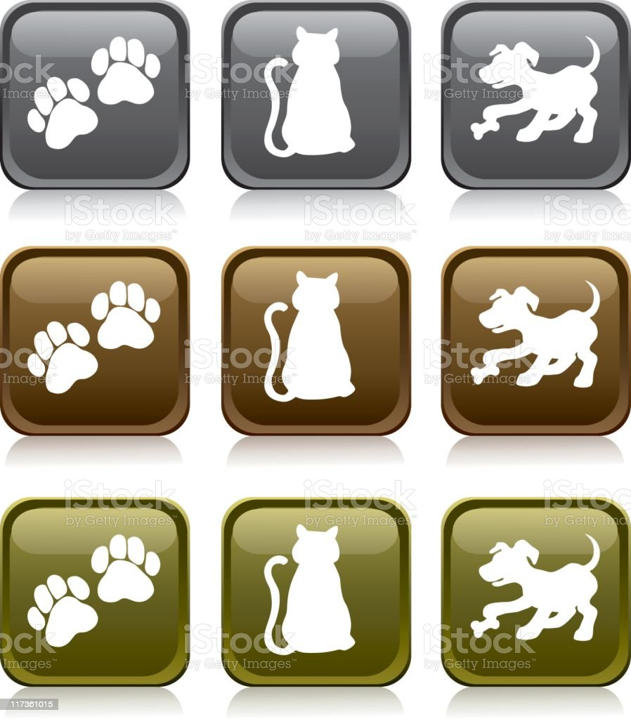 Pet Icons - 'Medals Series' royalty-free stock vector art