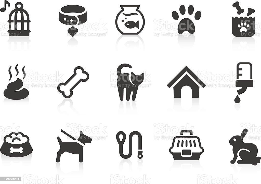Pet icons vector art illustration